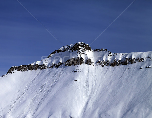 Slope with traces of avalanches Stock photo © BSANI