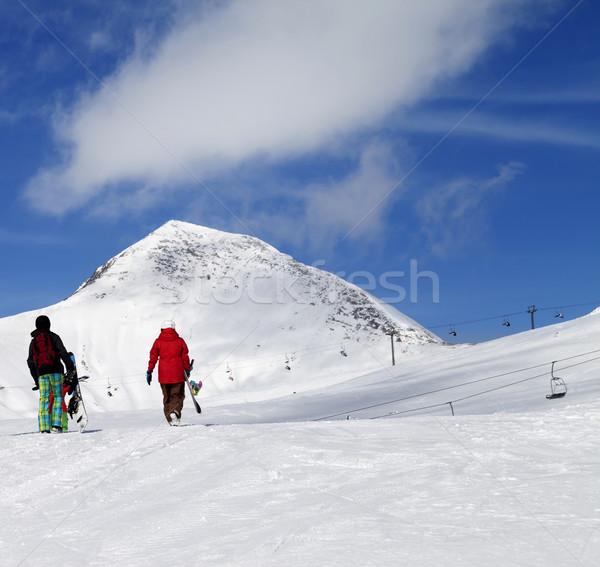 Sole nice giorno caucaso montagna Foto d'archivio © BSANI