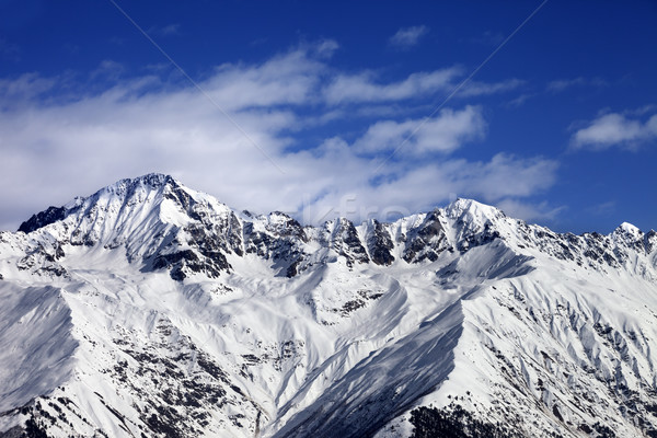 Snow mountains in winter sun day Stock photo © BSANI
