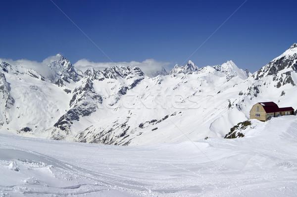 Sci resort caucaso montagna cielo casa Foto d'archivio © BSANI