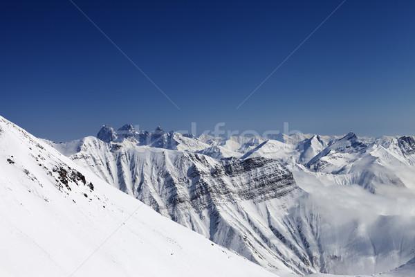 Snowy winter mountains Stock photo © BSANI