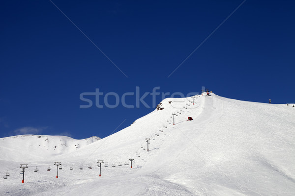 Ski slope with ropeway at sun winter day Stock photo © BSANI