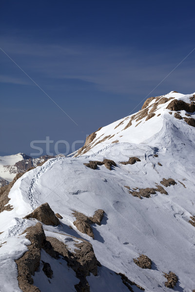 Snow ridge and footpath to the top Stock photo © BSANI