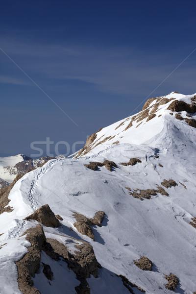 雪 先頭 トルコ セントラル 山 空 ストックフォト © BSANI