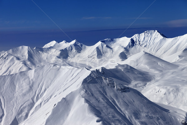 View on off-piste snowy slopes at nice sunny day Stock photo © BSANI