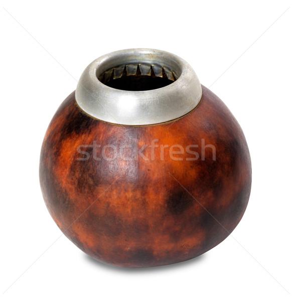 Calabash gourd on white background Stock photo © BSANI