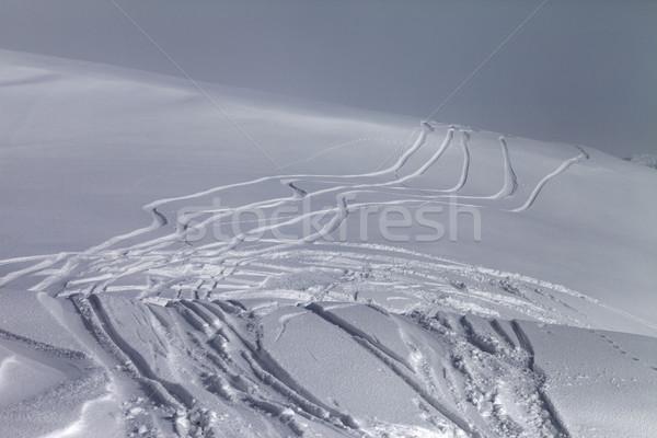 Off-piste slope in fog Stock photo © BSANI