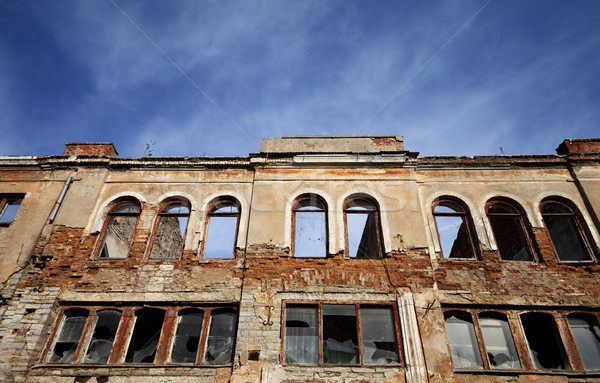 Facade of old destroyed house Stock photo © BSANI