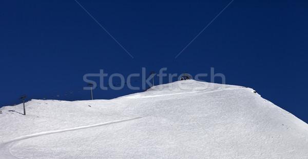 Panoramic view on ski slope and ropeway Stock photo © BSANI
