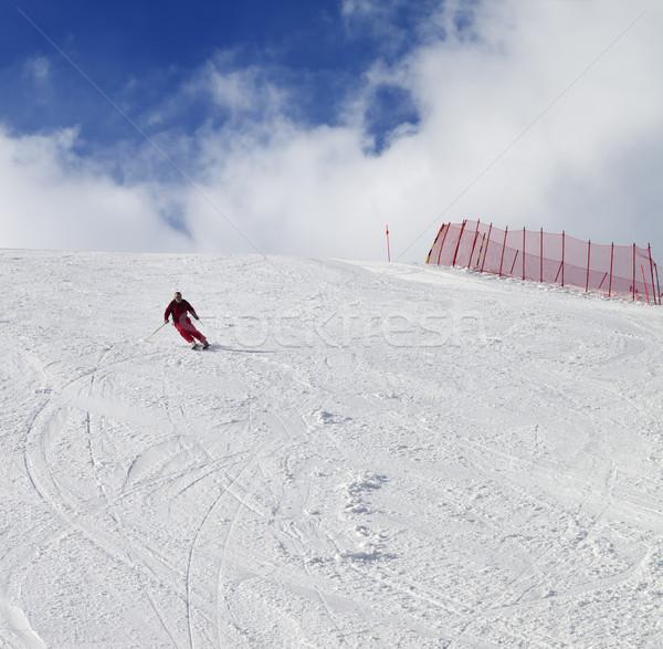 Esquiador bom sol dia cáucaso Foto stock © BSANI