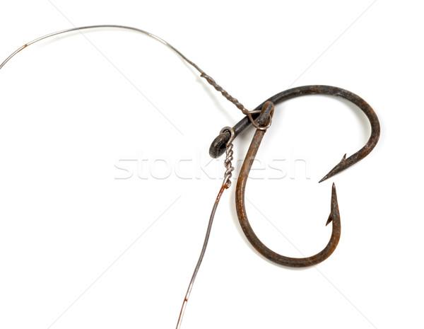Edad Rusty peces forma corazón aislado Foto stock © BSANI