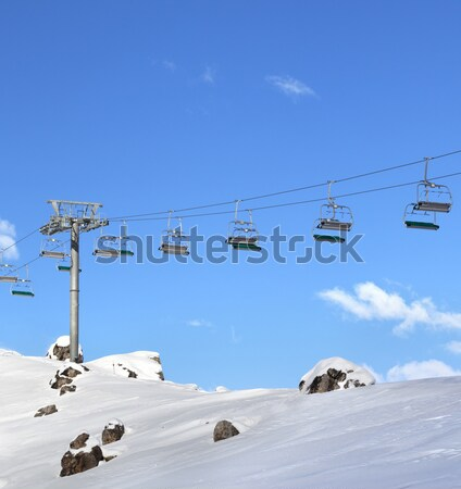 Ski Resort soleil jour chutes de neige caucase Photo stock © BSANI