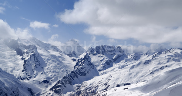 Mountains panorama. View from the ski slope. Stock photo © BSANI