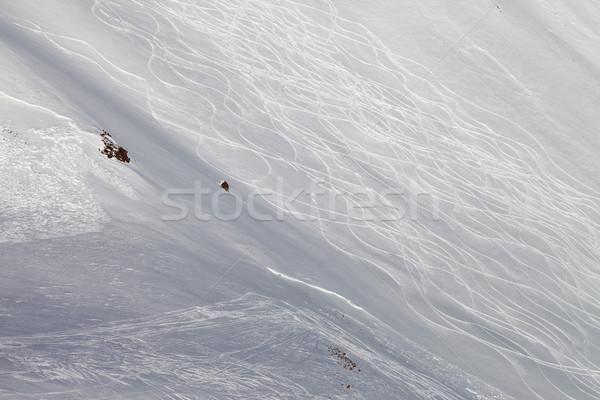 Snow skiing off-piste Stock photo © BSANI