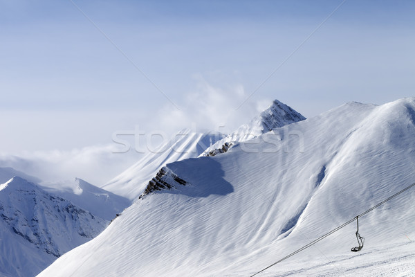 Snow slope and ropeway Stock photo © BSANI