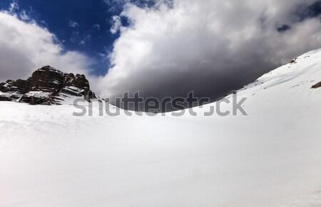 Kar plato Türkiye merkezi dağlar gökyüzü Stok fotoğraf © BSANI