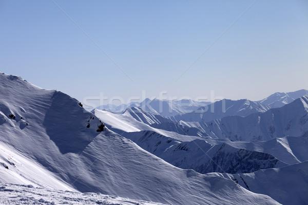 雪 山 表示 スキー リゾート グルジア ストックフォト © BSANI
