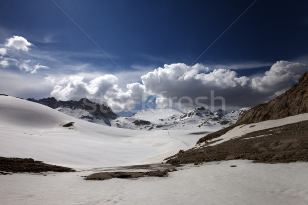Snow plateau with footpath Stock photo © BSANI