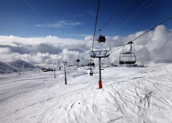 Gôndola cadeira elevador esquiar recorrer cáucaso Foto stock © BSANI