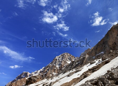 Rocks with snow at nice day Stock photo © BSANI