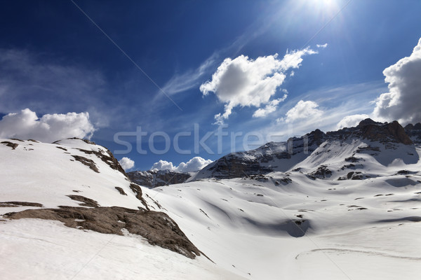 Snow plateau at nice day Stock photo © BSANI