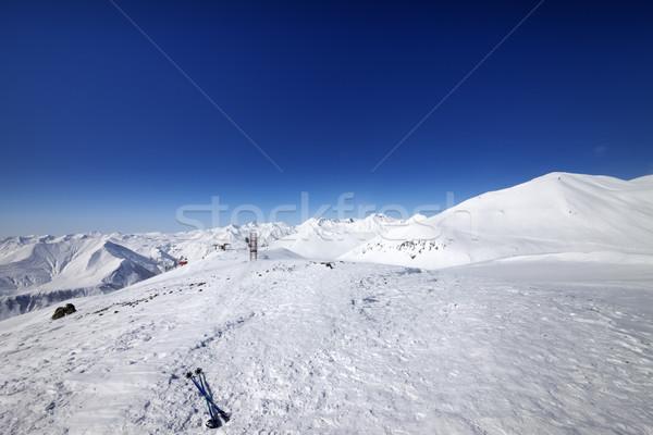 лыжных снега склон Nice день Кавказ Сток-фото © BSANI