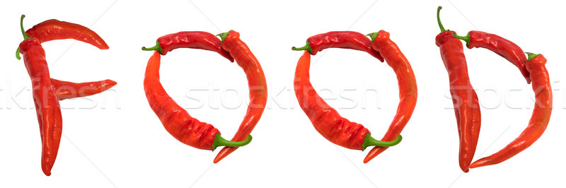 FOOD text composed of chili peppers Stock photo © BSANI
