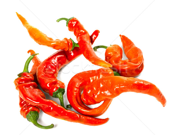 Red chili peppers with water drops Stock photo © BSANI
