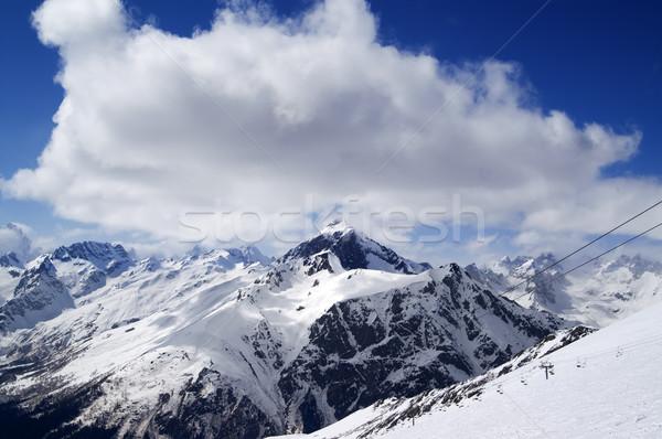 Soleil jour caucase montagnes ski Photo stock © BSANI