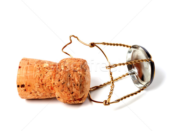 Cork from champagne wine and muselet Stock photo © BSANI