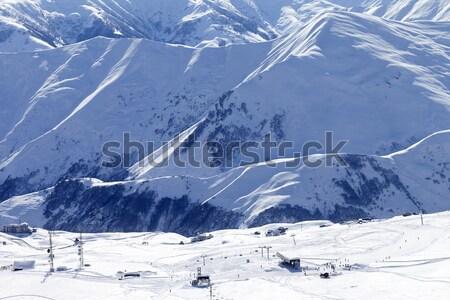 Panorama of winter mountains. Caucasus Mountains, Georgia Stock photo © BSANI