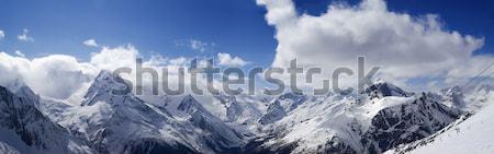 Panorama Mountains. Ski resort. Stock photo © BSANI