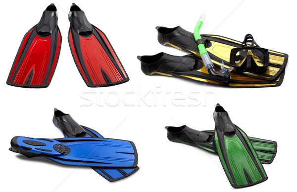 Conjunto nadar máscara snorkel mergulho Foto stock © BSANI