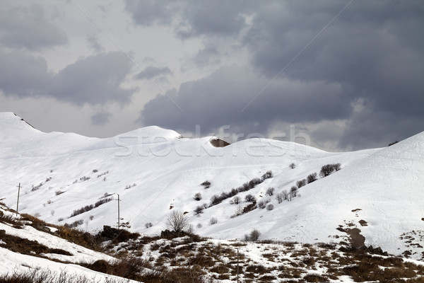 Off-piste slope and overcast sky Stock photo © BSANI