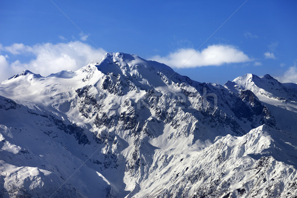 Snow winter mountains at nice sun day Stock photo © BSANI