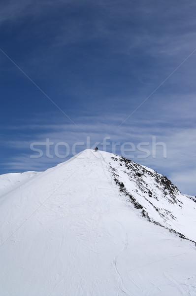 Freeriders on top of mountains Stock photo © BSANI