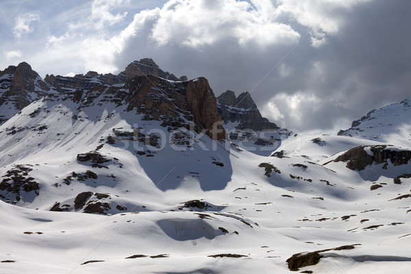 Winter mountains in clouds Stock photo © BSANI