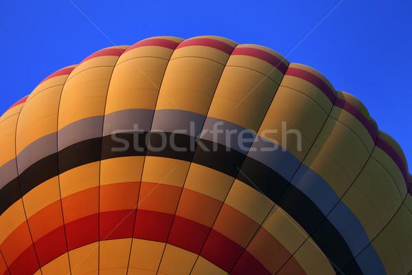 Balonem Błękitne niebo widoku niebo niebieski Zdjęcia stock © BSANI