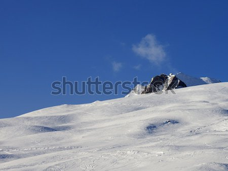 Ski slope at sun evening Stock photo © BSANI