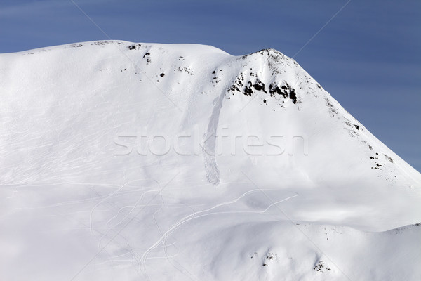 Off-piste slope with traces from avalanches Stock photo © BSANI
