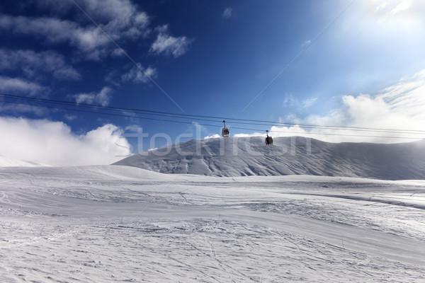 Gondola lift and ski slope at sun day Stock photo © BSANI