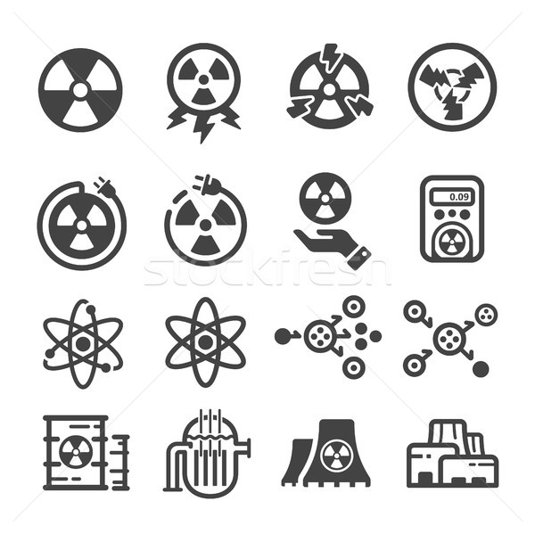 Stock photo: nuclear energy icon