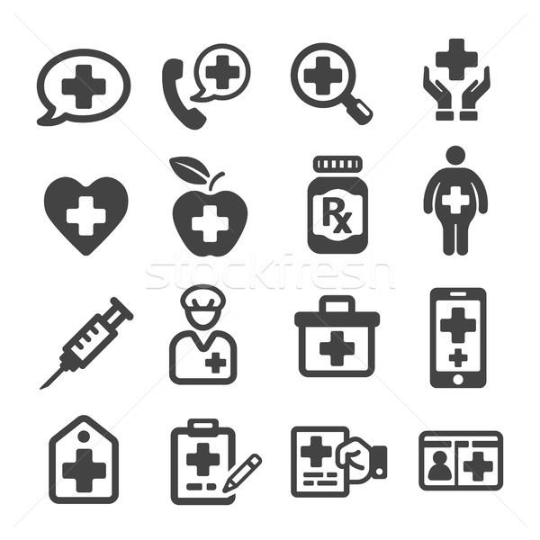Icona mano tecnologia salute ospedale infermiera Foto d'archivio © bspsupanut