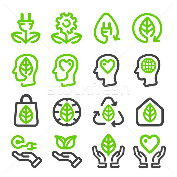 ecology,energy renewable line icon Stock photo © bspsupanut