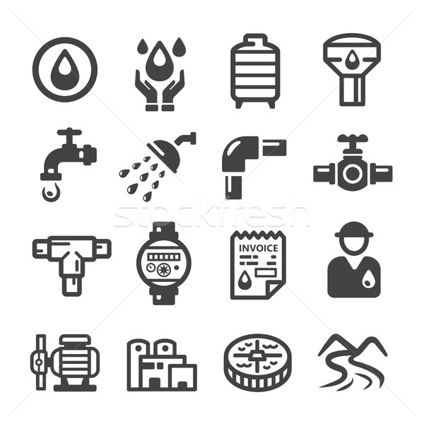 Stock photo: water suppply,plumbing icon