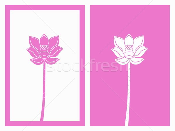 Stock photo: pink lotus vector