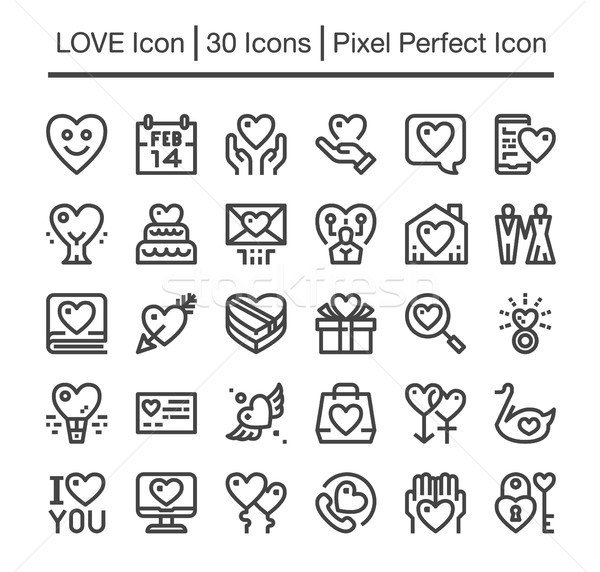 love icon Stock photo © bspsupanut
