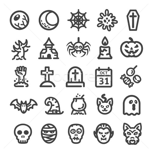 halloween line icon Stock photo © bspsupanut