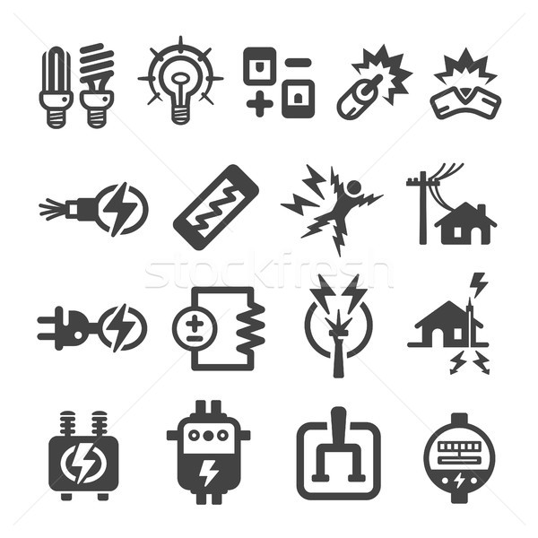 electric,electronic icon Stock photo © bspsupanut