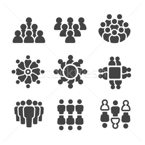group of people,population icon Stock photo © bspsupanut